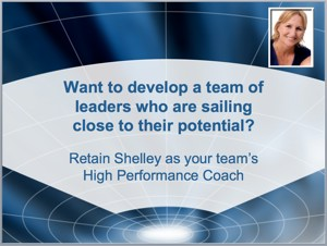 Shelley Holmes Coach High Performance Leaders