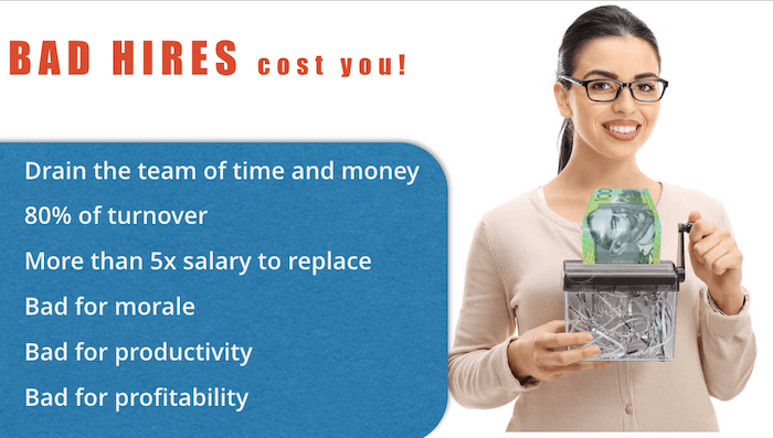Bad Hires Cost You - lift your employee selection rates